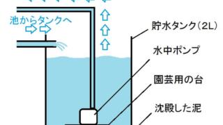 水中ポンプで循環